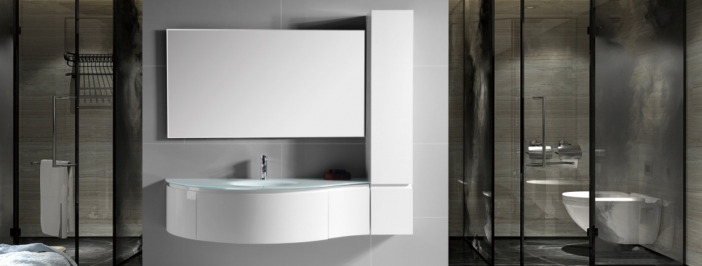 IL1559 Wall Mount Bathroom Basin Cabinet Set with Mirror