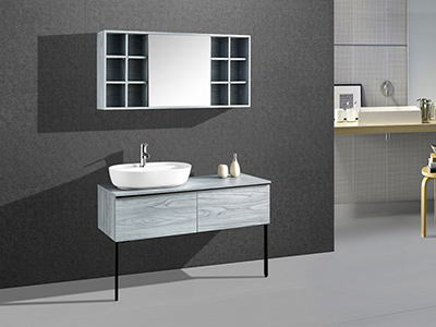 IL1968 Floating Single Bathroom Vanity with Mirror Cabinet