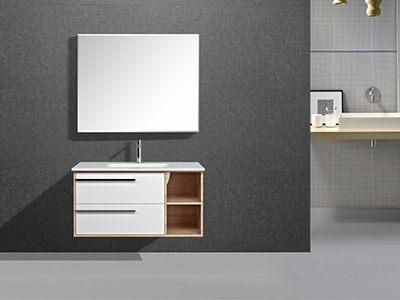IL2601 Stylish Wall Mount Single Bathroom Vanity with Large Mirror