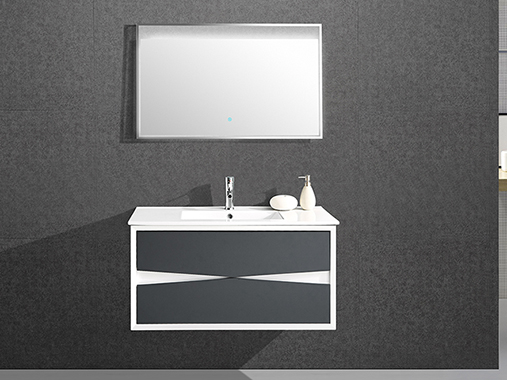 IL-1911 Bathroom Vanity Set with Rectangular Mirror