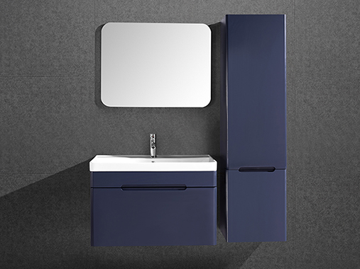 IL-2553 Matte Blue Bathroom Cabinet Set with Mirror