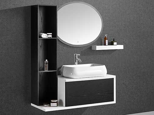 A01 Solid Wood Bathroom Vanity Set with Mirror
