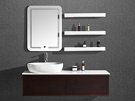 A04 Solid Wood Bathroom Vanity Set with Mirror