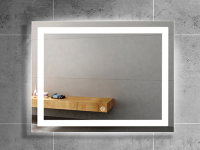 DF39 Frameless Rectangular Mirror with LED Light